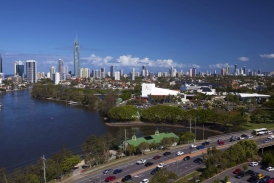 Aerial The Arts Centre Gold Coast