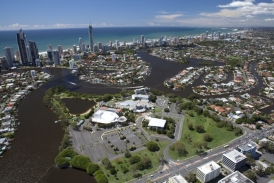 Gold Coast Cultural Precinct site from bundall