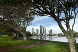 View from Evandale Parklands to Surfers Paradise Skyline