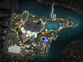 2014 Gold Coast Cultural Precinct Masterplan by night